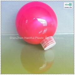 200ml/ 7oz/100mm pet candy plastic toy ball/plastic christmas ball