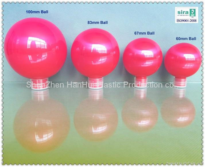 200ml/ 7oz/100mm pet candy plastic toy ball/plastic christmas ball 2
