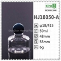 50ml hotel pet empty bottle with ball