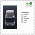 45ml PET square mini plastic bottle for hotel bath foam