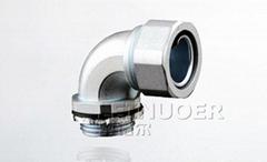90-degree liquid tight conduit connector