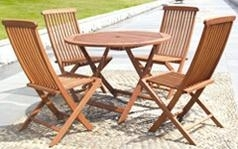 Wooden leisure folding tables and chairs