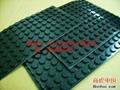 黑色具备防震防滑硅胶垫