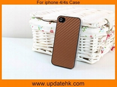 Carbon Fiber Leather case for iphone 4/4s