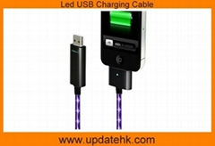 Led USB Charging Cable for ipod, iphone,ipad