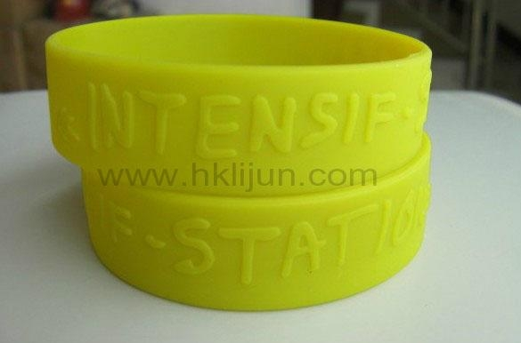 Customized Silicone Wristbands, Embossed silicone bracelet 1