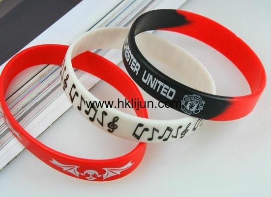 Customized Silicone Wristbands, Printed silicone bracelet 1