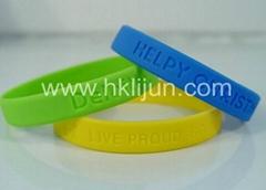 Customized Silicone Wristbands,Debossed silicone bracelet