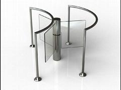Swing barrier waist high turnstile gate