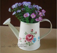 Wow! Cute Metal Watering Can-shaped Graden Watering Can small flower pot desktop