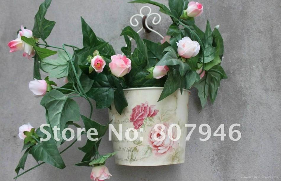Wallmounted Flower Pot Metal craft Flower Planter  1