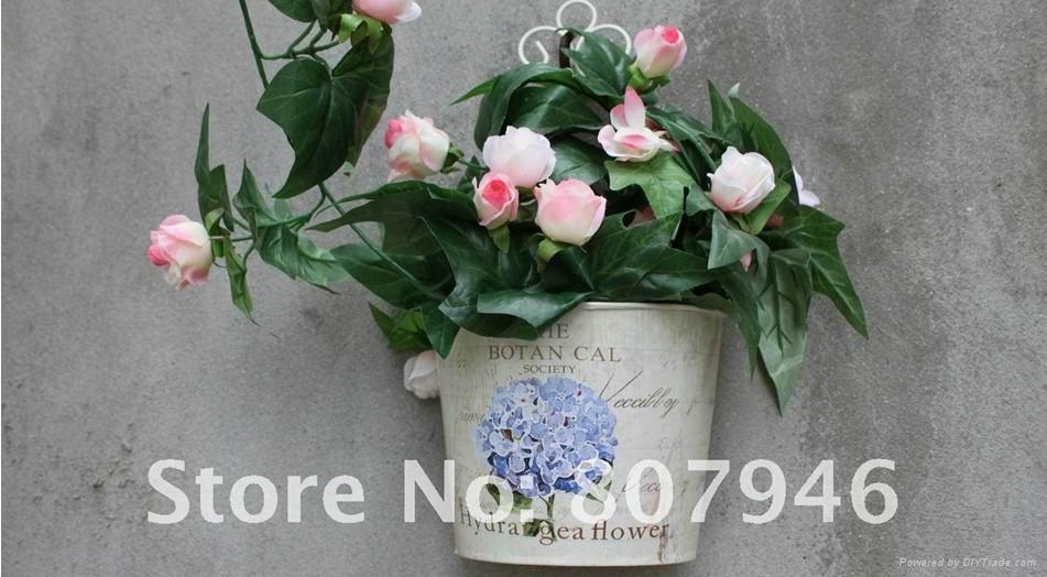 Wallmounted Flower Pot Metal craft Flower Planter  3