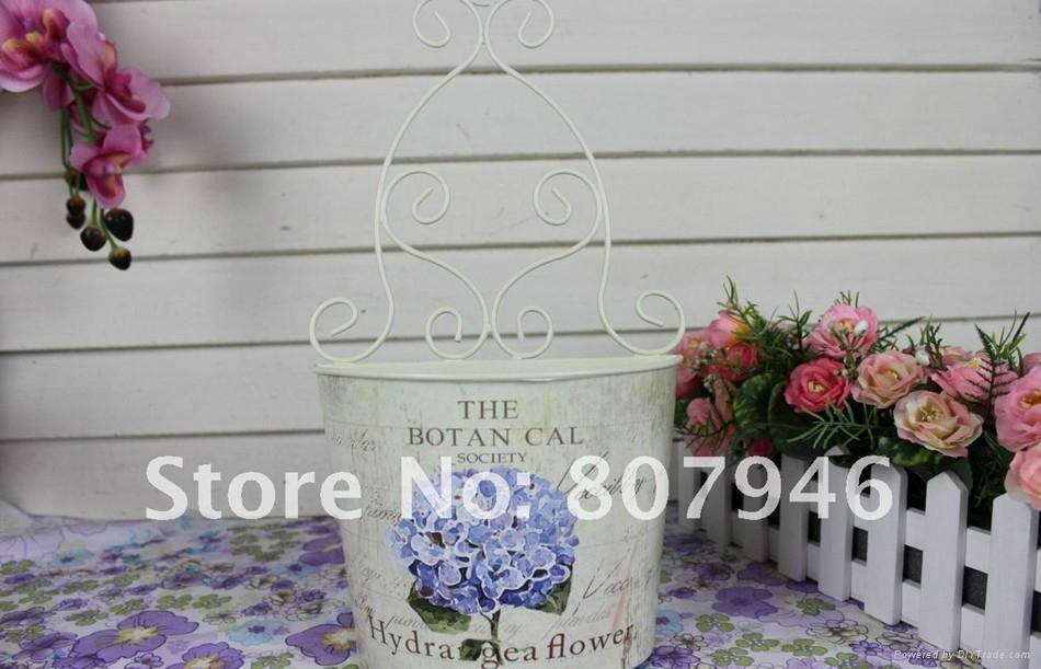 Wallmounted Flower Pot Metal craft Flower Planter  4
