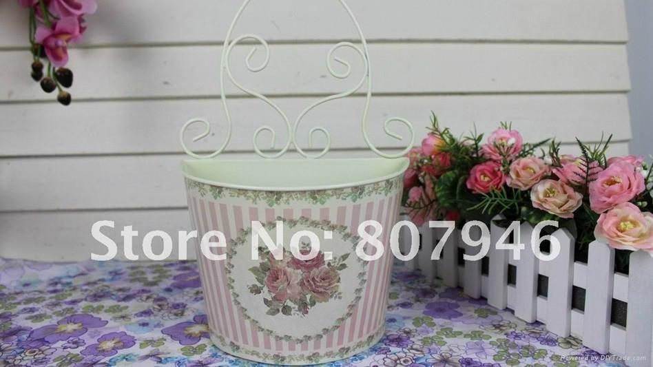 Wallmounted Flower Pot Metal craft Flower Planter  5