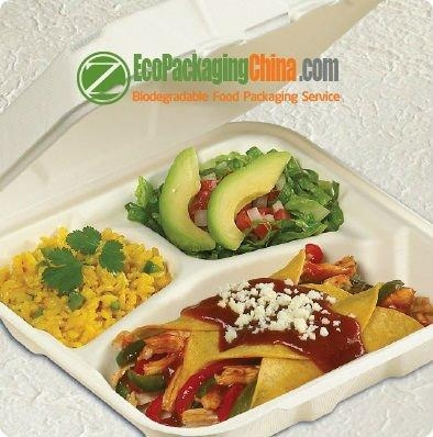 eco friendly bagasse paper clamshell packaging 2
