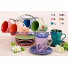 coffee mug & saucer