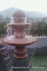 Natural granite stone fountain
