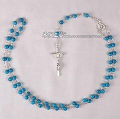 rosary,turquoise rosary,turquoise bead rosary,prayer rosary