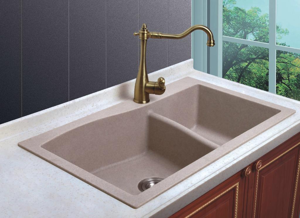 亚克力厨房台面水槽srd810图片