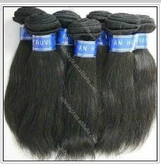 Top quality peruvian virgin human hair,straight,100g/PC,tangle free 1