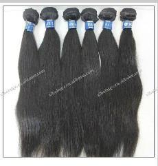 Peruvian virgin human hair weave,100% human hair natural color can be dyed with  1