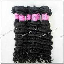 unprocessed virgin indian remy hair extension machine made weft natural color