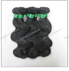 virgin malaysia human hair weave machine made weft body wave