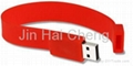 CE/FCC/RoHS Rubber Bracelet USB Flash Disk 1
