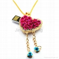 popular Jewelry love Gifts USB Pen Drive