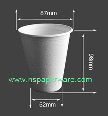 Biodegradable Bagasse Plant Disposable Cups 2oz,8oz,8.5oz,12oz) 2