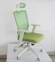 White Office Chair with Headrest