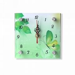 MDF glass clock