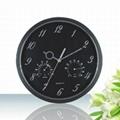 多功能温湿度塑料挂钟