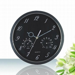 The temperature and humidity plastic wall clock