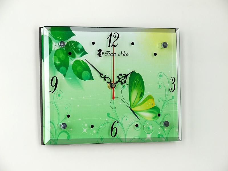 MDF无框画玻璃时钟 3
