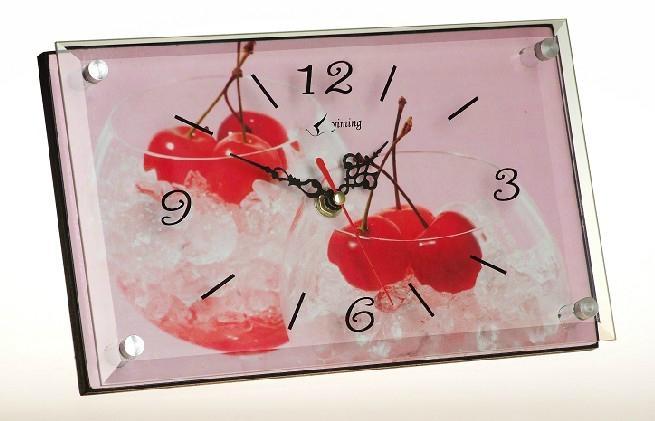 MDF无框画玻璃座钟 2
