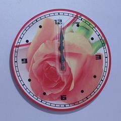 時尚寫真玻璃時鐘