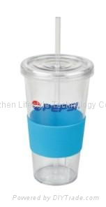 550ml double walls color changing PP sippy mug 1