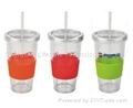 550ml double walls color changing PP sippy mug 2