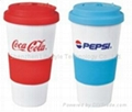 550ml double walls color changing PP sippy mug 3