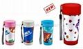 promtional mugs/plastic travel mug BPA free with paper insert  2