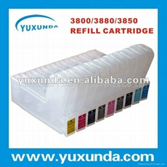 large format printer empty refillable ink cartridge for epson3800