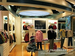 Clothing showcase for shopping mall with LED