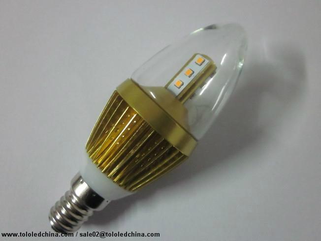 Commercial lighting led candle light 5w dim warm white high lumen 1