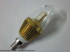 Commercial lighting led candle light 5w dim warm white high lumen