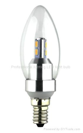 3W led crystal light candle bulb e14 1