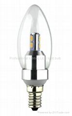 3W led crystal light candle bulb e14