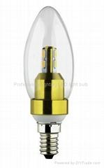 HOT bulbs smd5630 lmaps 3W LED Candle Light with E14 socket
