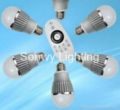 led remote group control bulb