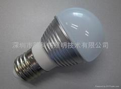 LED贴片球泡灯(车铝)